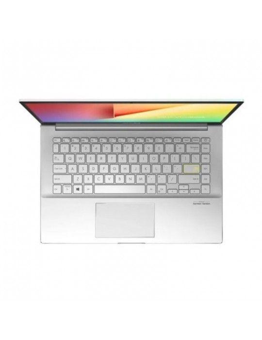 كمبيوتر محمول - ASUS VivoBook-S14 S433FL-EB081T I7-10510U-8GB-SSD 512GB-Nvidia MX250-2GB-14.0 FHD-Win10-White