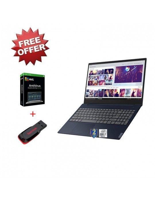 Laptop - Lenovo IdeaPad L3 Core i7-10510U-8GB-1TB-MX130-2GB-15.6 FHD-DOS-Abyss Blue