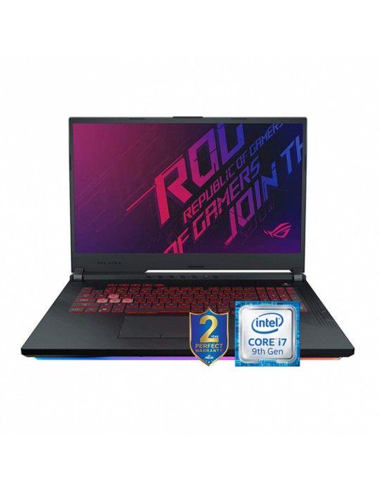 كمبيوتر محمول - ASUS -ROG-STRIX-G Intel core I7-9750H-BGA-16GB DDR4-1TB5 SSH8G-256G PCIE-NVIDIA GEFORCE GTX 1650 4GB
