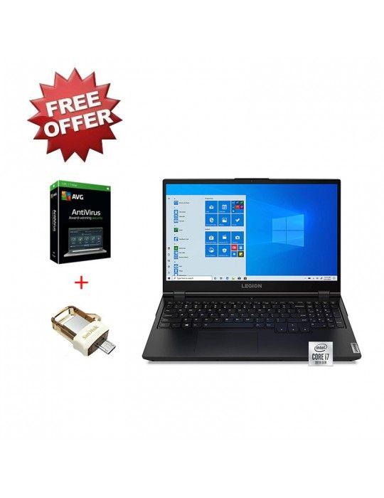 Laptop - Lenovo LEGION 5I-i7-10750H-8G-512SSD-GTX1660Ti-6G-15.6 FHD-Windows 10-Black