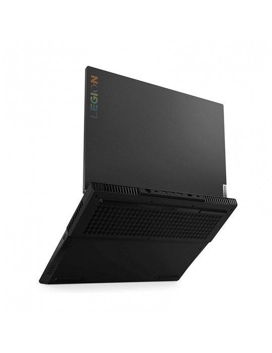 كمبيوتر محمول - Lenovo LEGION 5I-i7-10750H-8G-512SSD-GTX1660Ti-6G-15.6 FHD-Windows 10-Black