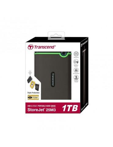 External HDD Transcend 1TB-USB3-SLIM Iron Gray