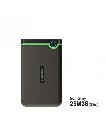 External HDD Transcend 2TB-USB3-SLIM Iron Gray