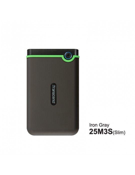 هارد ديسك - External HDD Transcend 2TB-USB3-SLIM Iron Gray