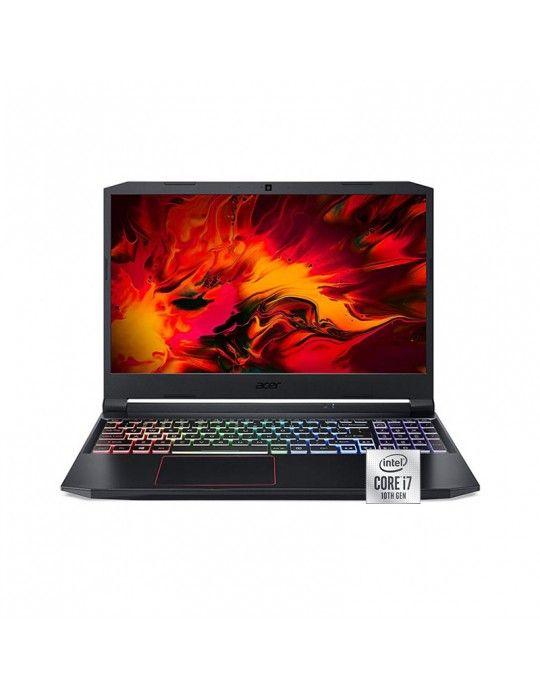 كمبيوتر محمول - Acer Nitro 5 AN515-55 i7-10750H-16GB-SSD 1TB-GTX 1660Ti-6GB-15.6FHD IPS-144Hz-Windows10-Black