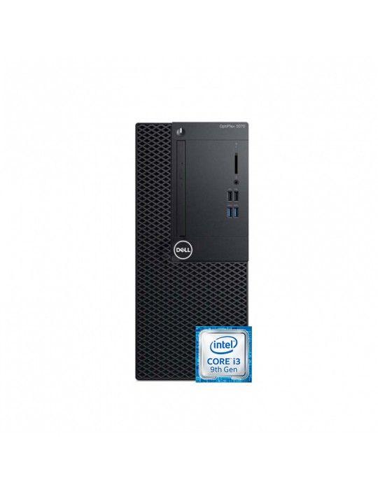 Desktop - Dell Optiplex 3070 i3-9100-4GB-1TB-Intel Graphics-Dos