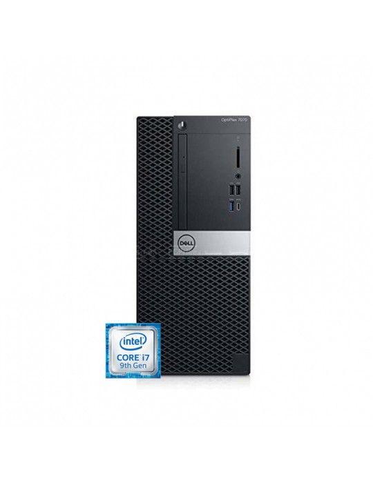 كمبيوتر مكتبى - Dell Optiplex 7070 i7-9700-4GB-1TB-Intel Graphics-DOS-1Year warranty