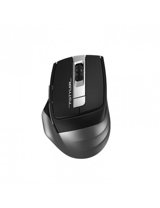 Mouse - A4Tech FB35S-Smoky Grey-Bluetooth & 2.4G Mouse