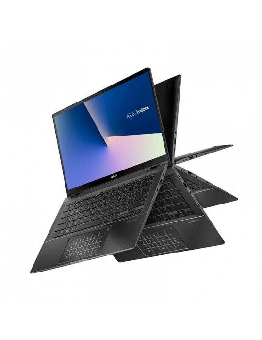 كمبيوتر محمول - ASUS ZenBook Flip UX463FL-AI014T i7-10510U-16GB-SSD 1TB-MX250-2GB-14 FHD Touch-Win10-Grey-Stylus pen free bundl