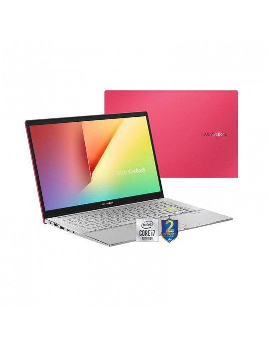 كمبيوتر محمول - ASUS VivoBook S14 S433FL-EB132T I7-10510U-8GB-SSD 512GB-Nvidia MX250-2GB-14 FHD/Win10-Red