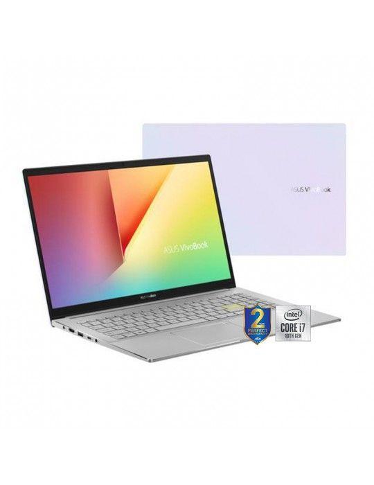 كمبيوتر محمول - ASUS VivoBook S14 S433FL-EB219T I7-10510U-8GB-SSD 512GB-Nvidia MX250-2GB-14 FHD-Win10-White