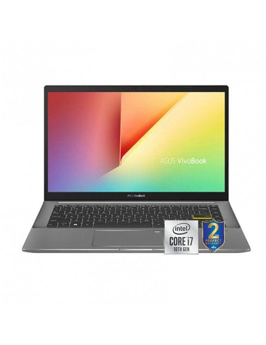 كمبيوتر محمول - ASUS VivoBook S14 S433FL-EB030T I7-10510U-8GB-SSD 512GB-Nvidia MX250-2GB-14 FHD-Win10-Black