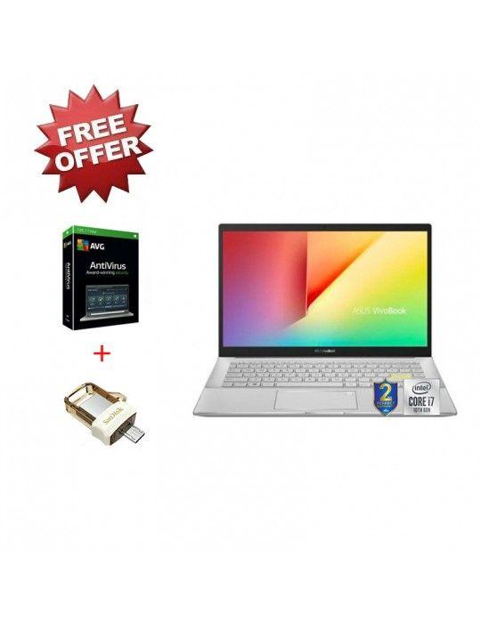 Laptop - ASUS VivoBook S14 S433FL-EB219T I7-10510U-8GB-SSD 512GB-Nvidia MX250-2GB-14 FHD-Win10-White