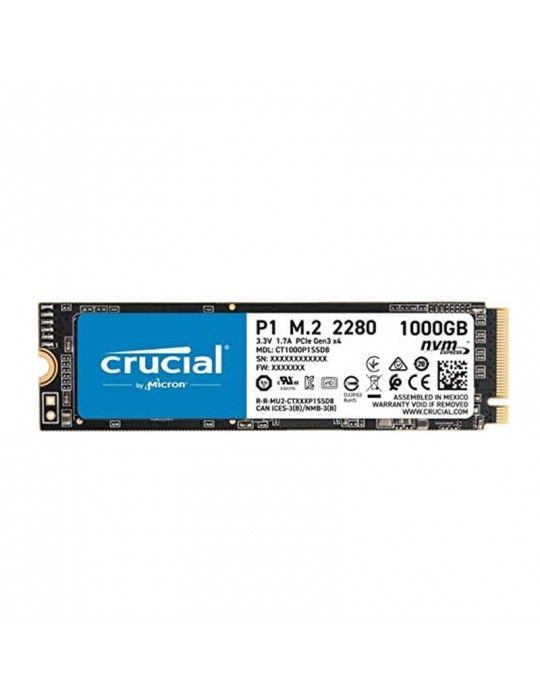هارد ديسك - SSD Crucial 1TB M.2 P1 NVMe