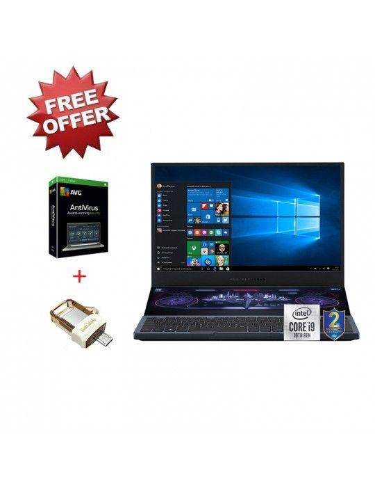 كمبيوتر محمول - ASUS ROG Zephyrus Duo 15 GX550 I9-10980HK-DDR4 16G+16G-1TB+1TB P3X4 SSD-RTX2080S Max-Q-GDDR6-8GB-15.6 4K UHDWin