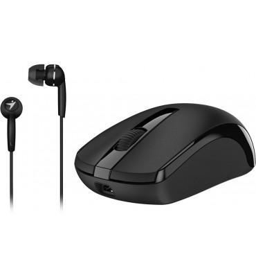 Mouse+Earphone Genius Combo MH-8100 Black