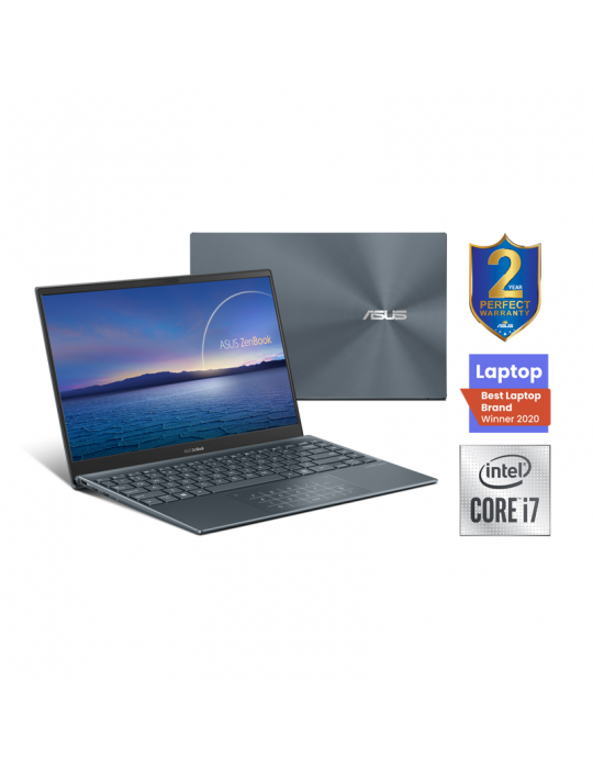 كمبيوتر محمول - ASUS Zenbook UX425JA-BM036T 14-I7-1065G7-16G-1TB PCIE G3-Intel Shared - Win10-14.0 FHD Pine Grey