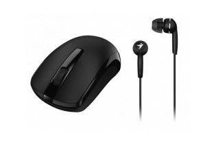 Mouse - Mouse+Earphone Genius Combo MH-8100 Black