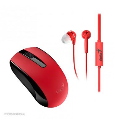 Mouse+Earphone Genius Combo MH-8100 Red