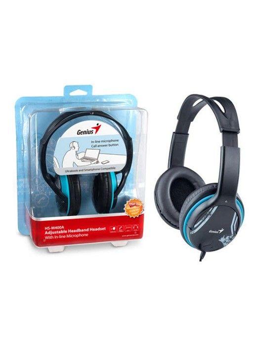 سماعات اذن - Headphone Genius HS-400A Blue