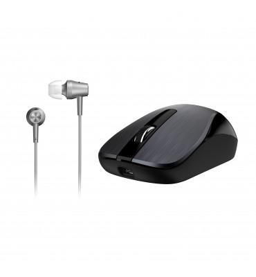 Mouse+Earphone Genius Combo MH-8015 Iron Gray