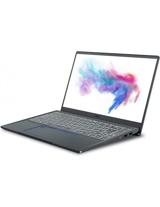 كمبيوتر محمول - msi Prestige 14 A11SCS-Core I7 1185G7U-16GB RAM-1TB SSD-4GB GTX1650TI-14.0 FHD–win10-Carbon Grey