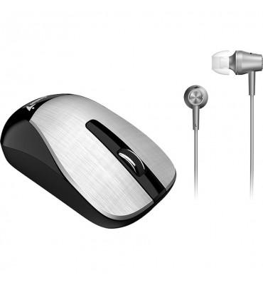 Mouse+Earphone Genius Combo MH-8015 Silver
