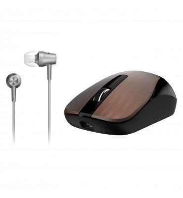 Mouse+Earphone Genius Combo MH-8015 Coffee