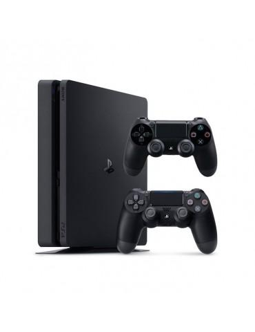 Sony PlayStation 4 Slim 1TB Console-2 DualShock 4 Controller (Official Warranty)