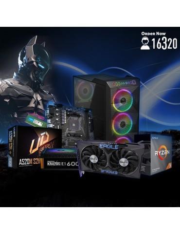 Bundle AMD R3 3100-AMD A520M S2H-GTX 1650 4GB-8G DDR4-1TB HDD-GAMDIAS ATHENA M1 ARGB case-GAMDIAS KRATOS E1-600W 80