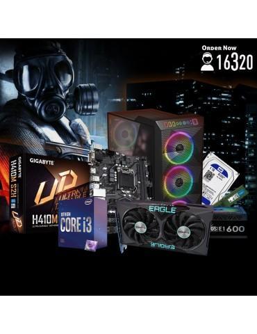 Bundle Intel Core i3-10100F-Intel H410M S2H-GTX 1650 4GB-8G DDR4-1TB HDD-GAMDIAS ATHENA M1 ARGB case-GAMDIAS KRATOS E1-600W 80