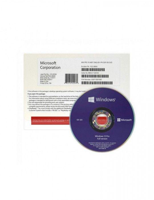Software - Windows 10 Pro 64-bit