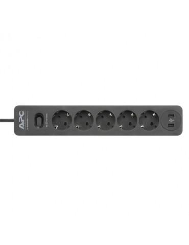 APC Essential SurgeArrest 5 Outlet-2 USB Ports-230V-Germany-Black