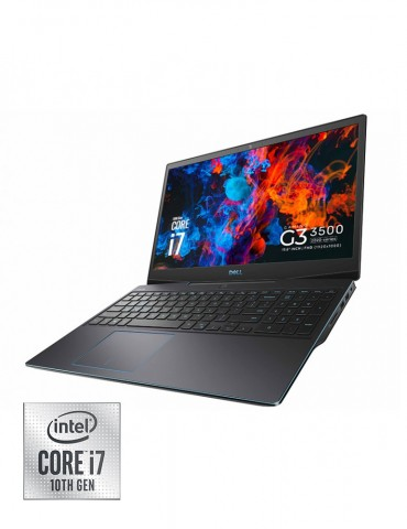 Dell Inspiron G3-3500 i7-10750H-16GB-SSD512 GB-RTX2060-6GB-15.6 FHD-120Hz-DOS-Black+Gaming Mouse+AVG