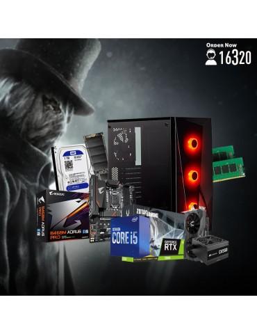 Bundle Intel Core i5-10600-B460M DS3H V2-RTX2060 Twin Fan 6GB-16GB-1TB HDD-256GB SSD-Case CORSAIR RGB-CV550 550W