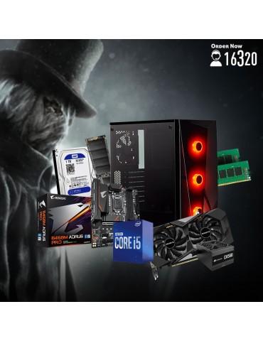 Bundle Intel Core i5-10600-B460M DS3H V2-GTX 1660 OC 6GB-16GB-1TB HDD-256GB SSD-Case CORSAIR RGB-CV550 550W