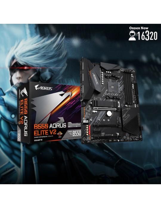 Gaming PC - Bundle AMD R5 5600X-B550 AORUS Elite V2-RTX 3070 EAGLE OC 8GB-16GB-1TB HDD-500GB SSD-Case XPG Defender Pro ARGB-GB