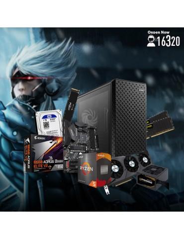 Bundle AMD R5 5600X-B550 AORUS Elite V2-RTX 3070 EAGLE OC 8GB-16GB-1TB HDD-500GB SSD-Case XPG Defender Pro ARGB-GB P650B 650W