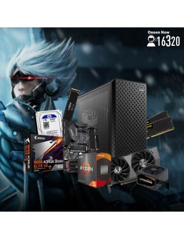 Bundle AMD R5 5600X-B550 AORUS Elite V2-RTX 3070 Twin Edge OC 8GB-16GB-1TB HDD-500GB SSD-Case XPG Defender ARGB-GBP650B 650W