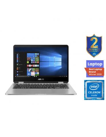 Asus VivoBook Flip14 TP401MA-EC320T-Intel Celeron-4GB RAM-128GB eMMC-Intel UHD Graphics 600-14 FHD-Stylus-Win10-Light Grey