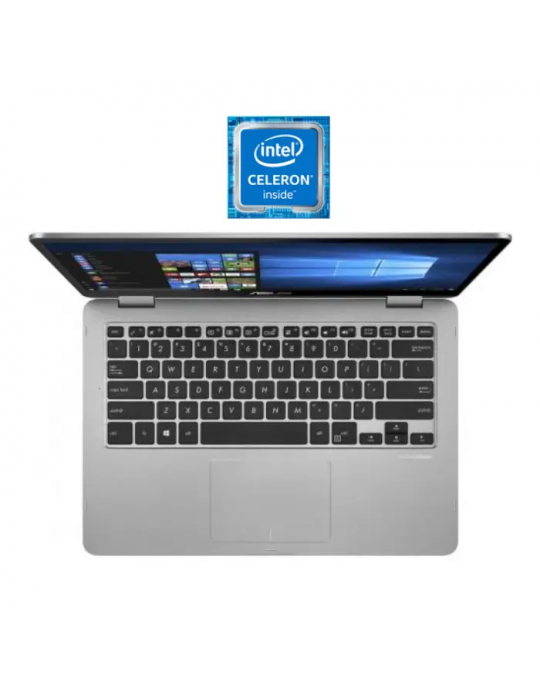 Laptop - Asus VivoBook Flip14 TP401MA-EC320T-Intel Celeron-4GB RAM-128GB eMMC-Intel UHD Graphics 600-14 FHD-Stylus-Win10-Light