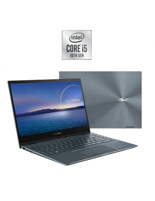 Laptop - Asus ZenBook Flip 13-UX363JA-EM141T-Intel Corei5 1035G4-8GB RAM-512GB SSD-Intel iris plus-13.3 FHD Touch-Win10-pine Gr