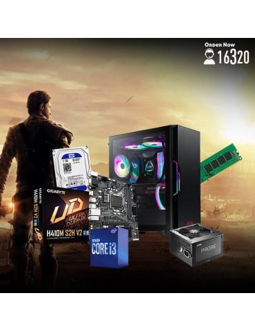 Bundle Intel Core i3-10100-GIGABYTE H410M S2H-8GB-1TB HDD-Case XPG Starker ARGB Black-600W