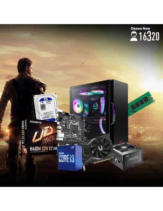 Gaming PC - Bundle Intel Core i3-10100F-GIGABYTE H410M S2H-GTX1650 GAMING OC 4GB-8GB-1TB HDD-Case XPG Starker ARGB Black-600W