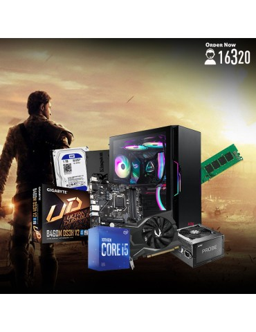 Bundle Intel Core i5 10400F-GIGABYTE B460M DS3H V2-GTX1650 GAMING OC 4GB-8GB-1TB HDD-256GB SSD-Case XPG Starker ARGB Black-600W