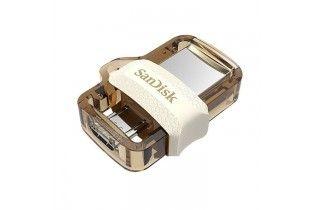 Flash Memory - Flash Memory 32GB SanDisk-Ultra Dual Drive-OTG-GOLD