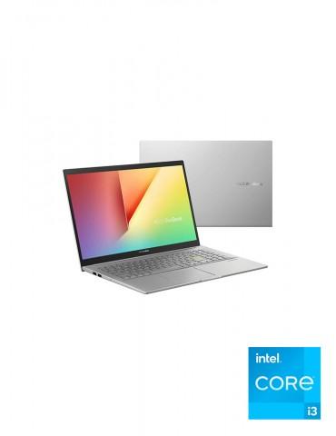 Asus Vivobook 15 K513EA-BQ913T Intel Core i3-1115G4-4GB RAM-256GB SSD-Intel UHD Graphics-15.6 FHD-Win10-Transparent Silver