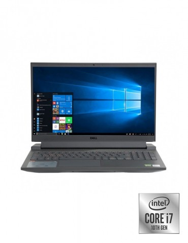 Dell Inspiron G15-N5510 i7-10870H-16GB-SSD 512GB-RTX3060-6GB-15.6 FHD-DOS-Shadow Grey+Gaming Mouse+AVG