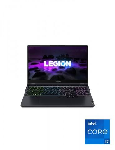Lenovo Legion 5 i7-11800H-16G-SSD 512GB-RTX3050Ti-4G-15.6 FHD-IPS 144Hz-DOS-Phantom Blue+Gaming Mouse+AVG