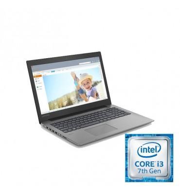 """Lenovo Ideapad 330-15.6""""-Intel Core i3-7020U 2.30 GHz-4GB RAM DDR-1TB HDD-VGA Intel HD-Free DOS-Black"""